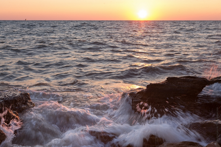 морской пейзаж закат