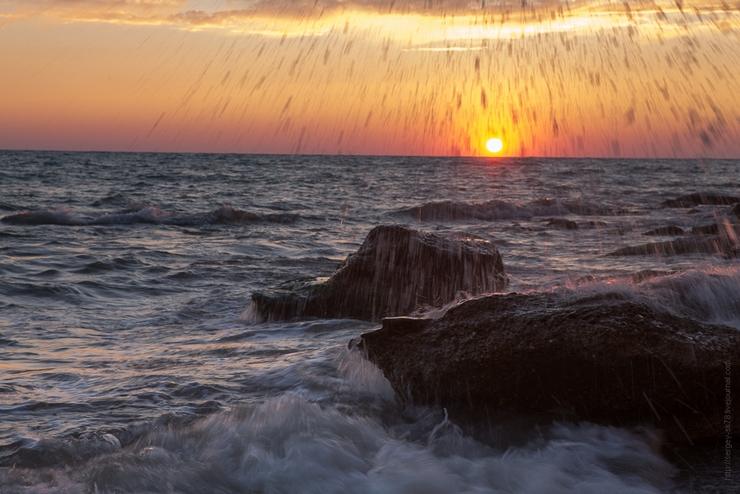 фото морской закат