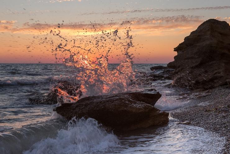 Фото моря на закате