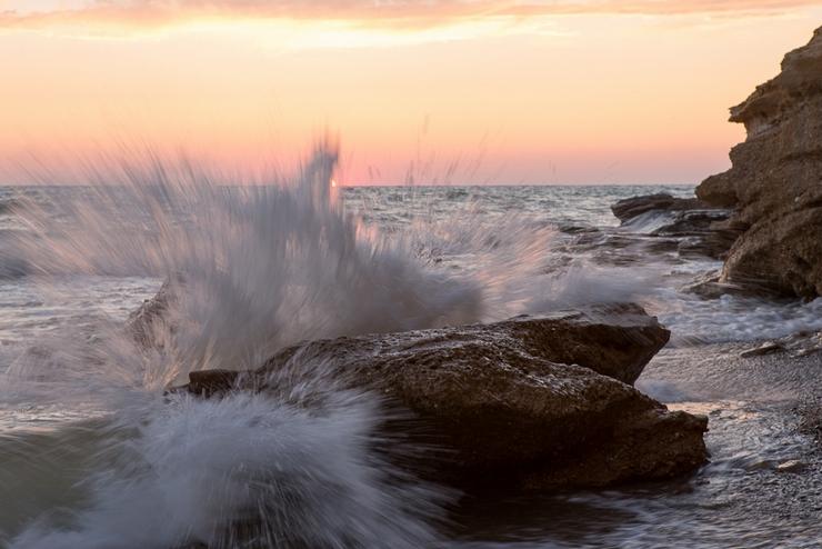 Закат солнца на море