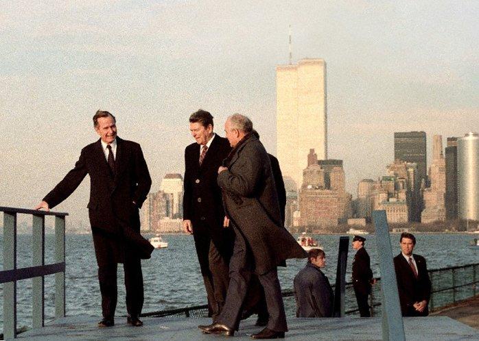 Рейган и Горбачев в Нью-Йорке