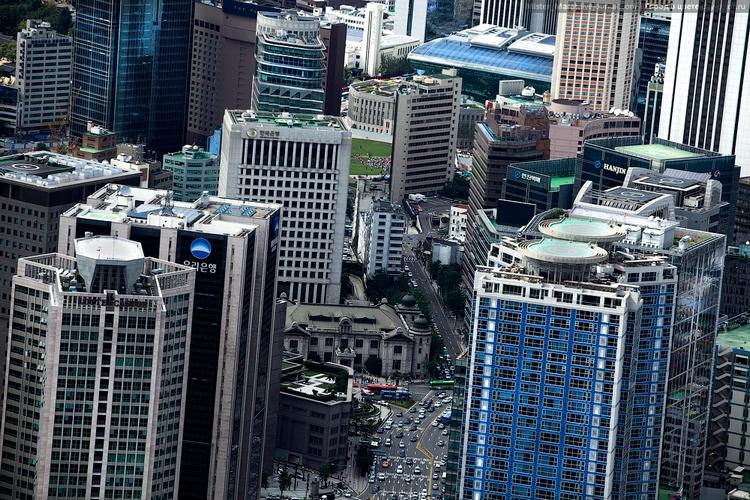 Вертолетные площадки на зданиях Сеула