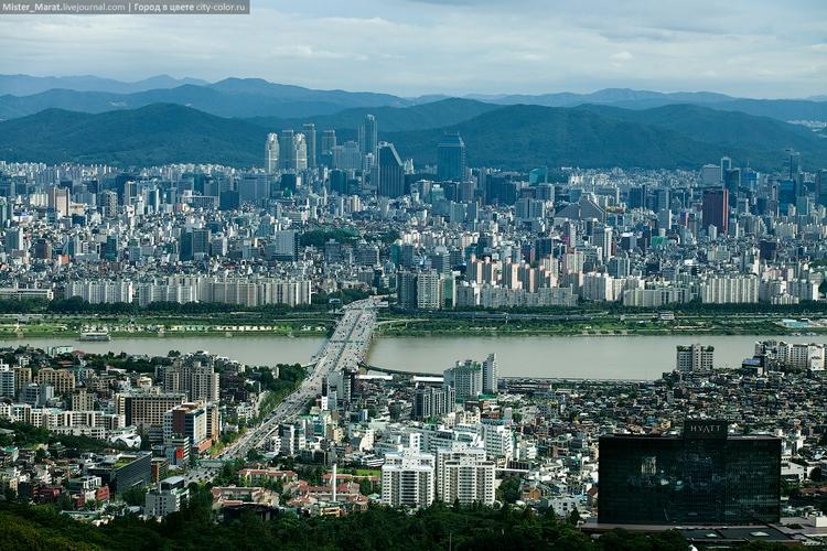 Горные и городские пейзажи Сеула