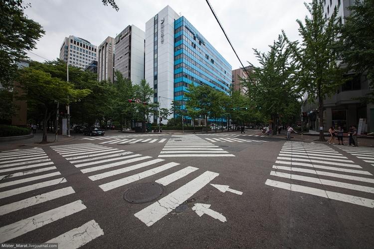 Пешеходные переходы в Сеуле