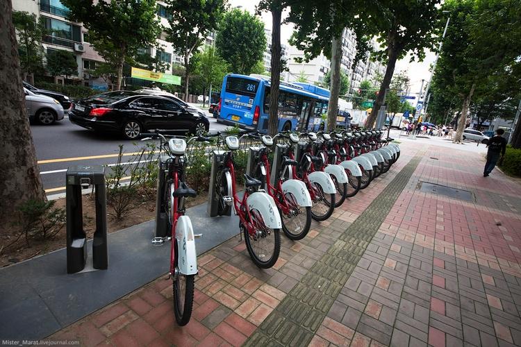 Пункты проката велосипедов в Сеуле