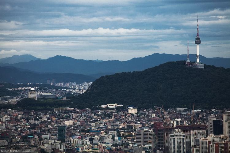 Вид на город с бизнес-центра: