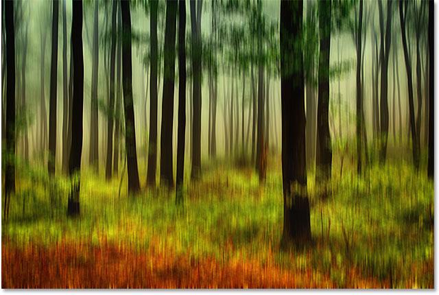 Фотография после применения фильтра Motion Blur