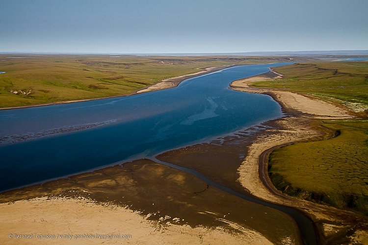 Верхняя Таймыра в районе устья реки Сетабели-Тари