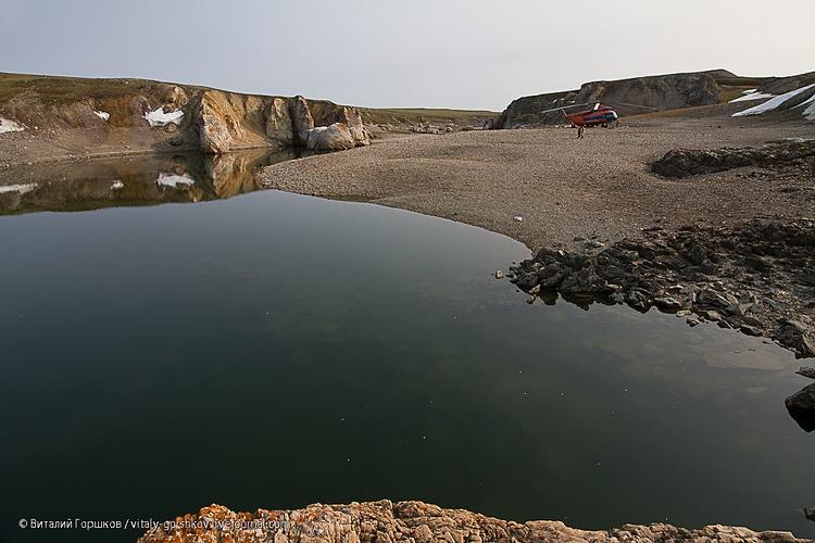 Водопад на реке Мамонта