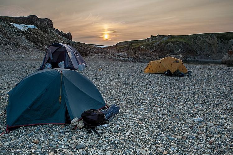 Лагерь на реке Мамонта