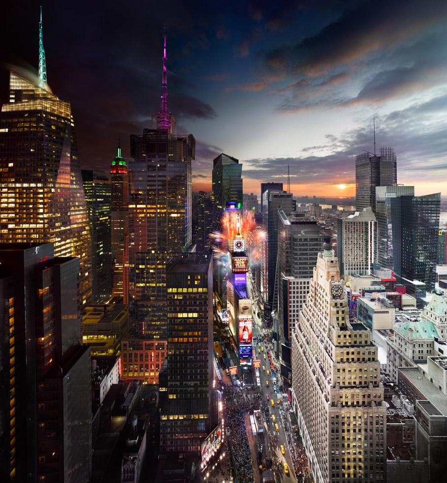 "Нью-Йоркские небоскрёбы. Фотопроект ""Day to Night"" Стивена Уилкса (Stephen Wilkes)"