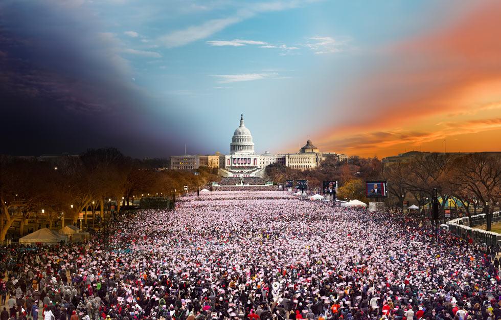"""Вашингтон. Фотопроект """"Day to Night"""" Стивена Уилкса (Stephen Wilkes)"""