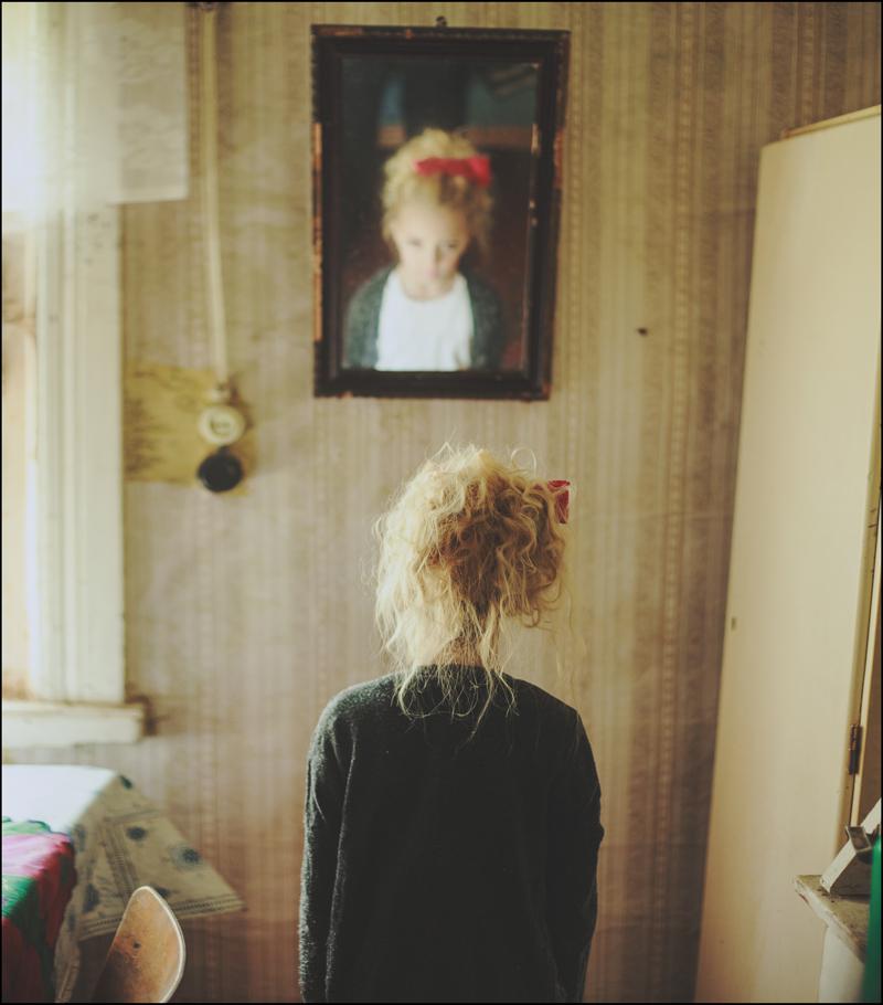 Отражение девушки