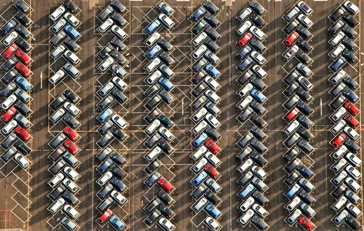 Автостоянка. Вид сверху. Фото: Uwe Braun
