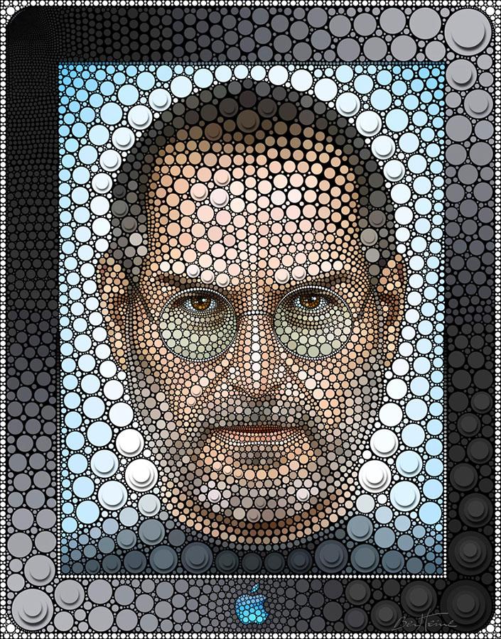 Цифровой рисунок: Стив Джобс. Автор: Бен Хайне