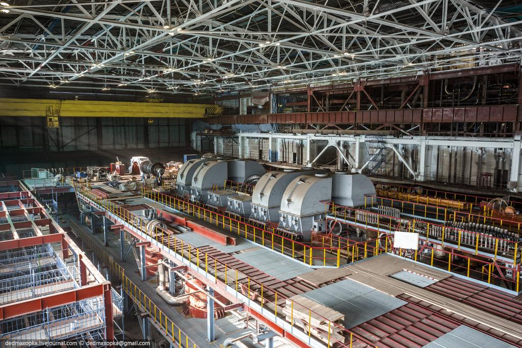 Строительство турбинного отделения