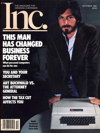 Стив Джобс на обложке журнала Inc., октябрь 1981 года