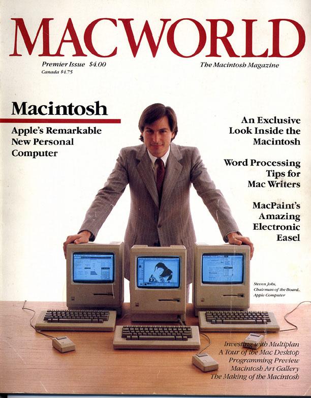 Cтив Джобс на обложке журнала Macworld, 1984 год