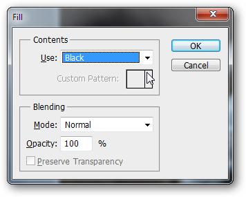 Edit > Fill и отмечаем Use: Black
