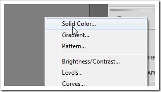 Создайте корректирующий слой Solid Color.