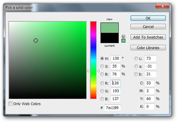 Выберите подходящий для призрака цвет. Этот оттенок прямо как из «Охотников за привидениями», возьмем его.