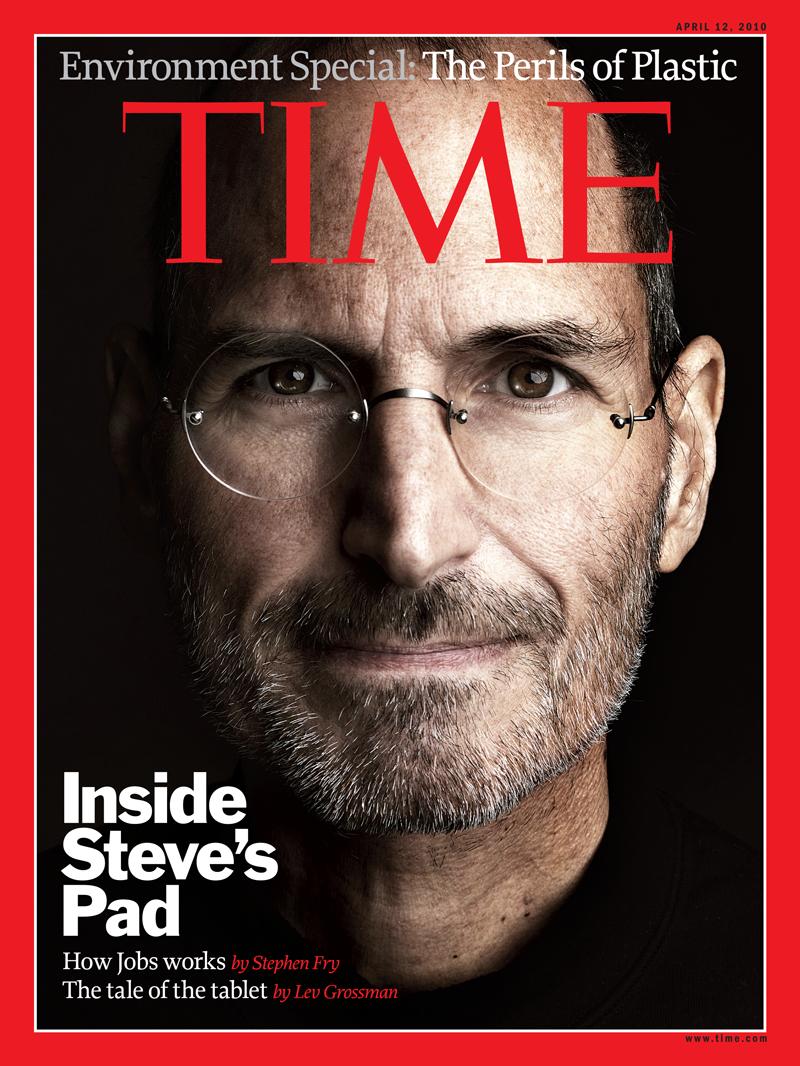 Стив Джобс на обложке журнала Time, апрель 2010 года
