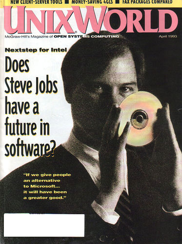 Стив Джобс на обложке журнала UnixWorld Magazine, 1993 год