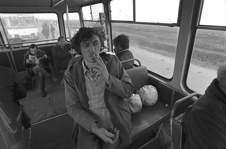 Журналисты АПН на уборке капусты. 1978 год
