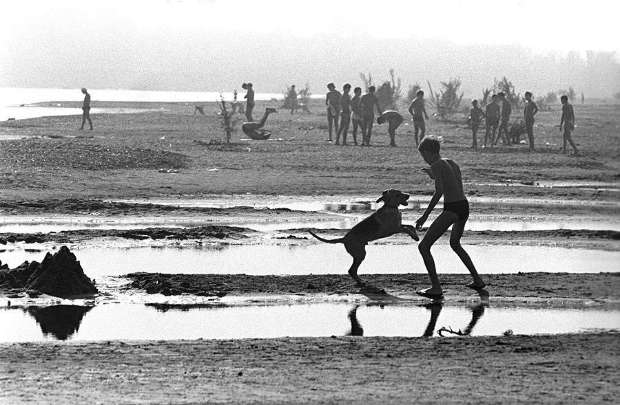 Утро на пляже. Башкирия. 1978 год