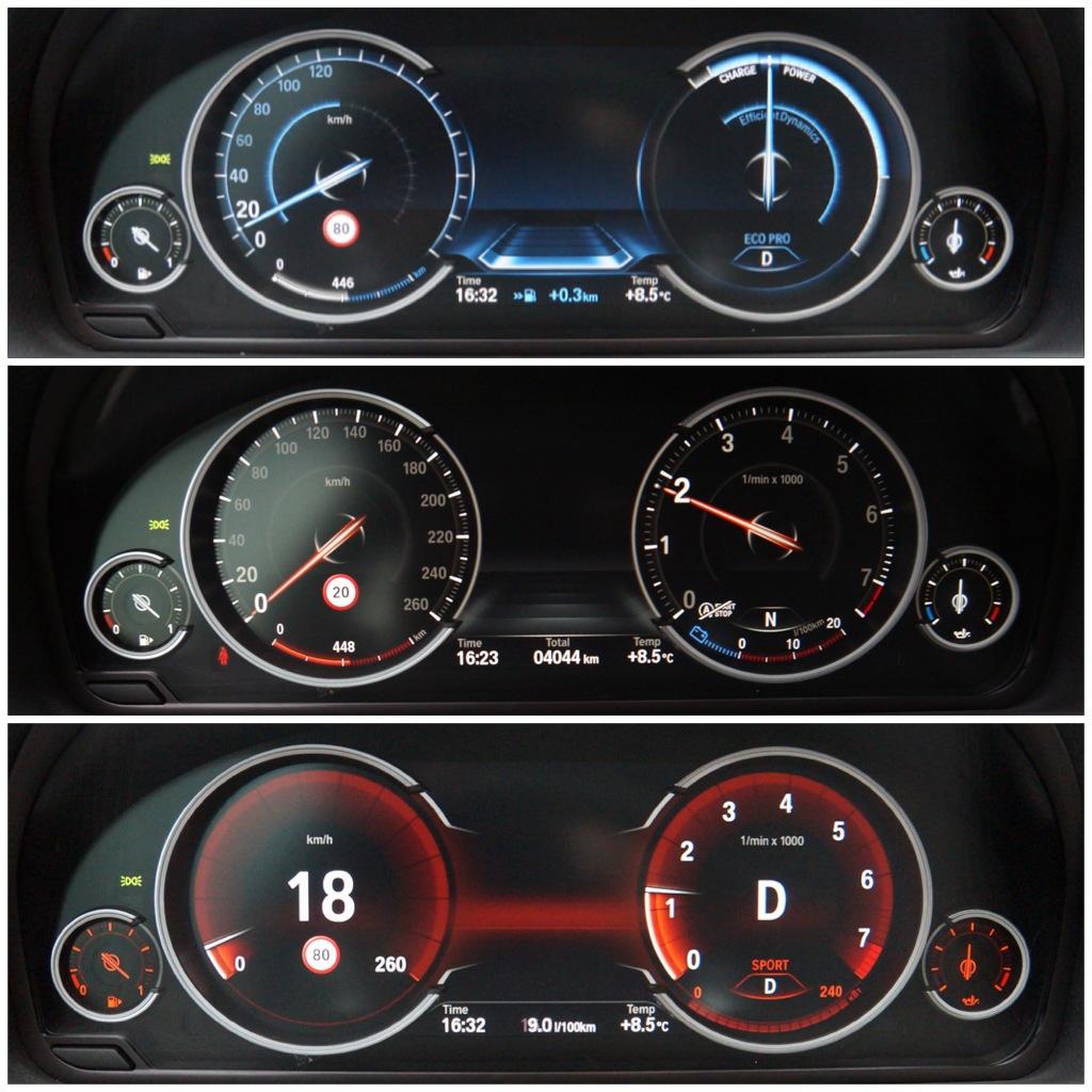 Режимы перемещения BMW GT 535 Xi