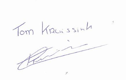 Автограф Tom Kruissink