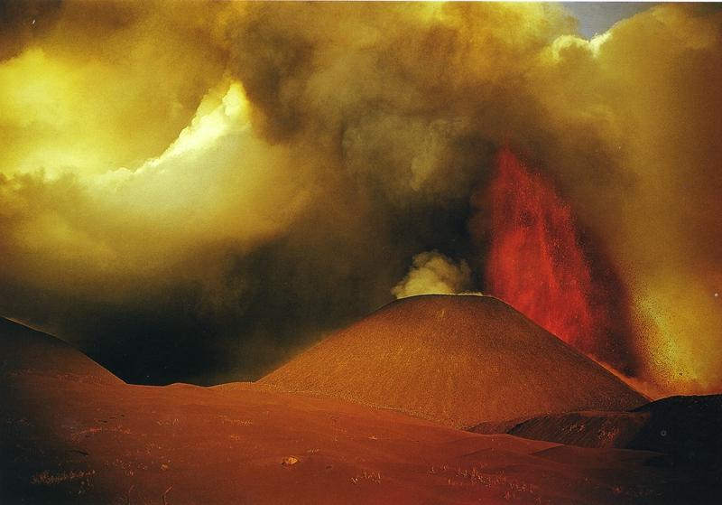 Извержение вулкана Толбачик. 1975 год. Фото: Вадим Гиппенрейтер