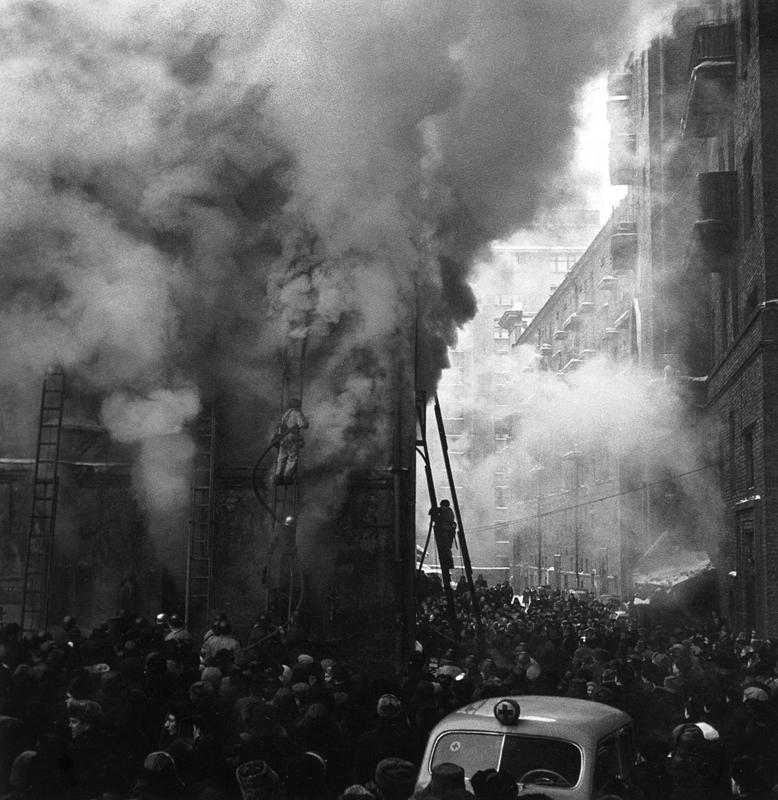 Пожар в Москве. 1960 год. Фото: Владислав Киврин