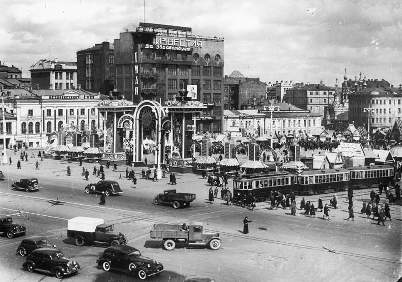 Пушкинская площадь, Москва, 1940 год. Фото: Наум Грановский