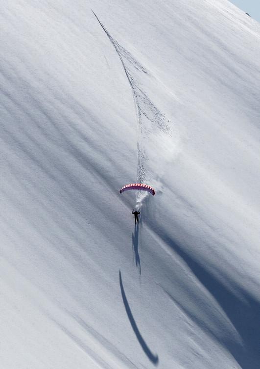 Экстремальный зимний спорт. Фото: Tristan Shu