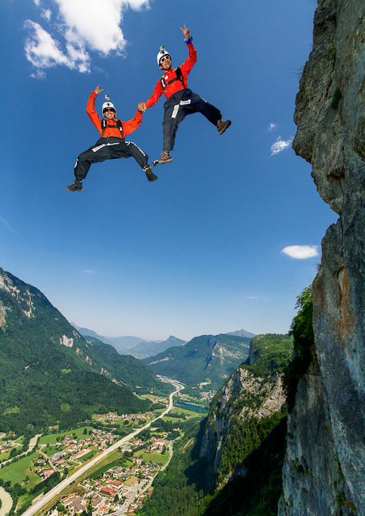 Экстремальные прыжки. Фото: Tristan Shu