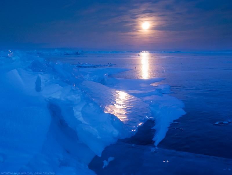 луна и лед