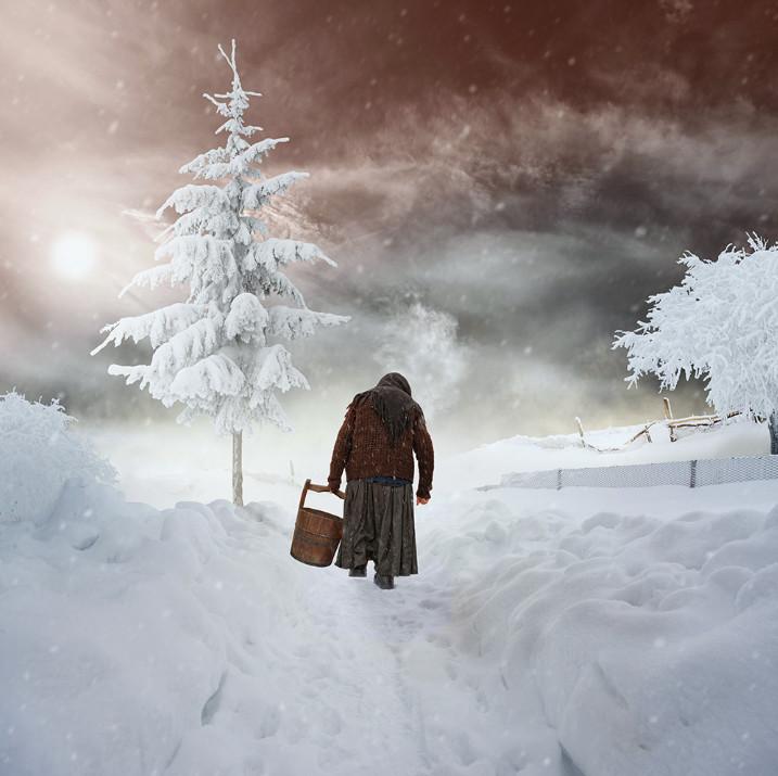 Зима в деревне. Фото: Карас Йонут