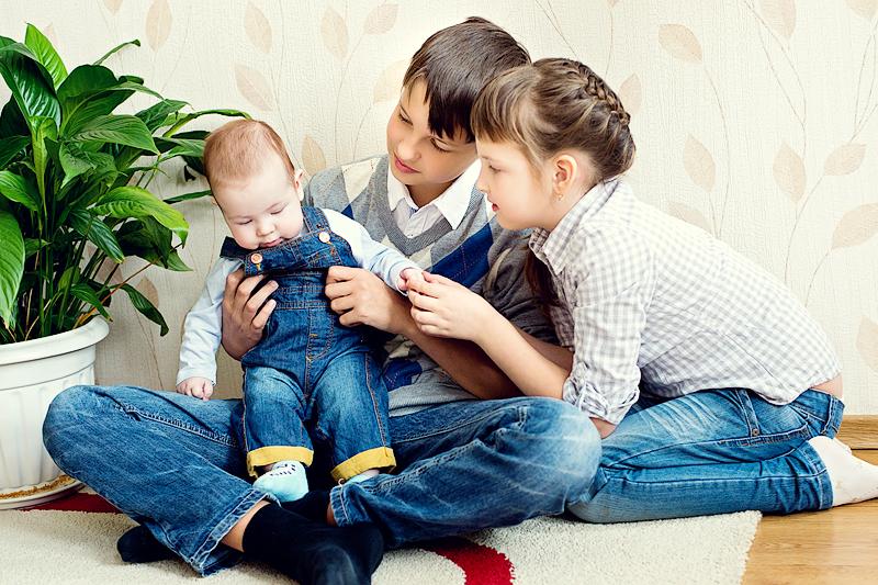 Фото многодетной семьи.  Фото: Наталья Дексбах
