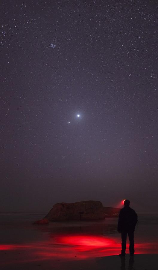 Победитель номинации: «Венера и Юпитер в тесном союзе». (Laurent Laveder/Astronomy Photographer of the Year)