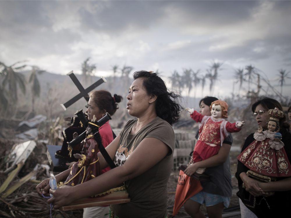 Последствия разрушительного ноябрьского тайфуна на Филиппинах. Фото: Philippe Lopez, AFP/Getty Images