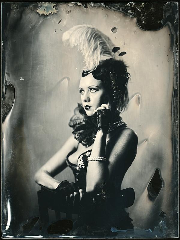Портрет девушки. Амбротипия. Фото: Андрей Шерстюк