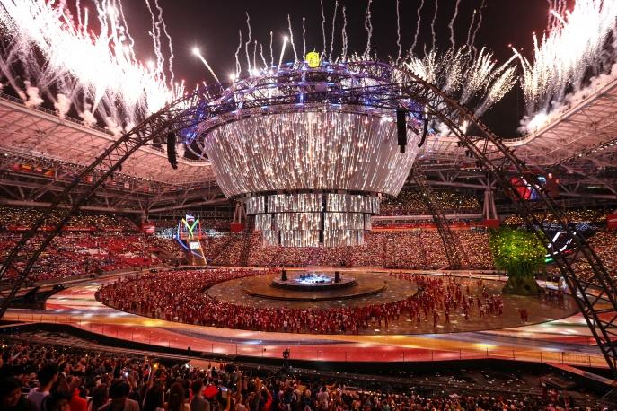Церемония закрытия XXVII Всемирной летней Универсиады 2013 в Казани. Фото: ИТАР-ТАСС/ Георгий Андреев