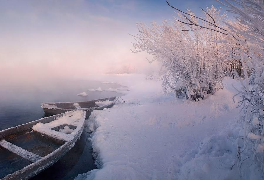 озеро Шатура зимой