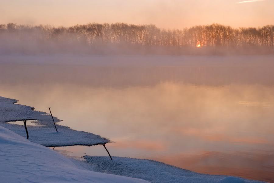 Зимний рассвет в Шатуре