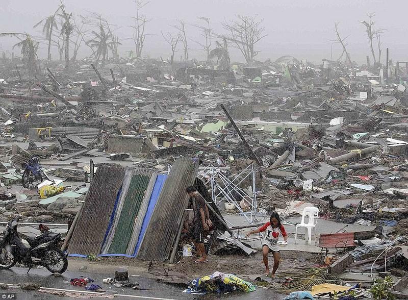 """Тайфун """"Хайян"""" на Филиппинах."""