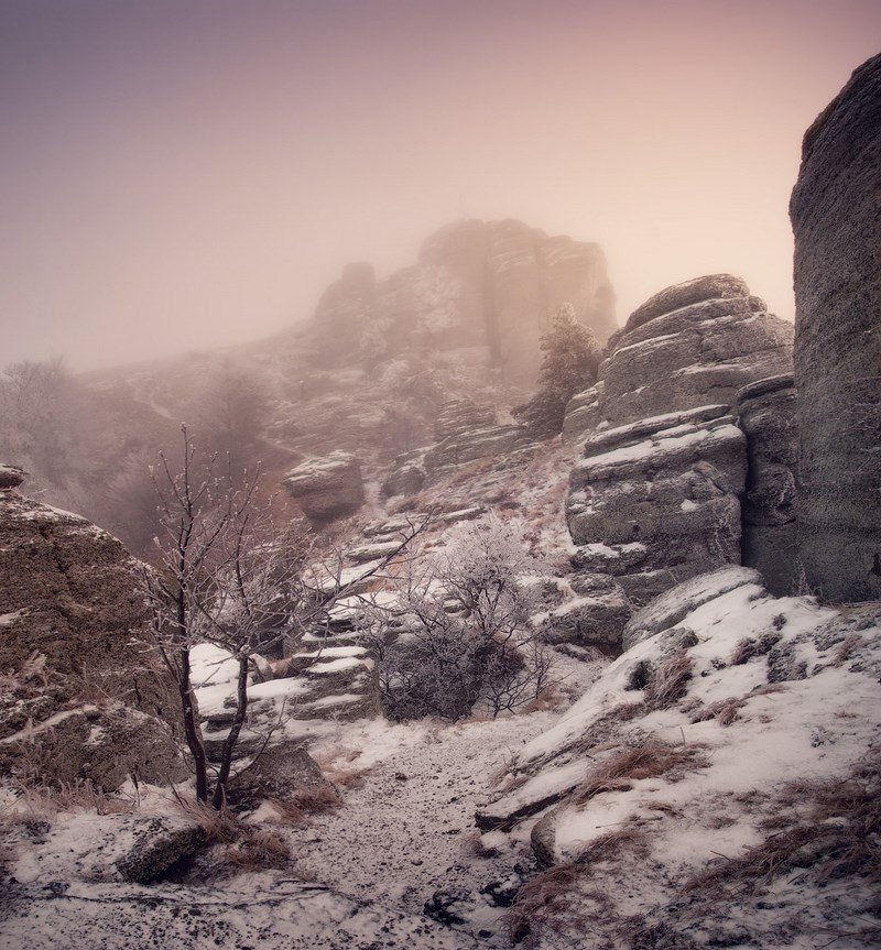 зимняя природа в горах