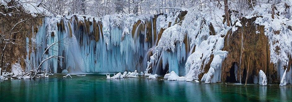 Водопад замерзший