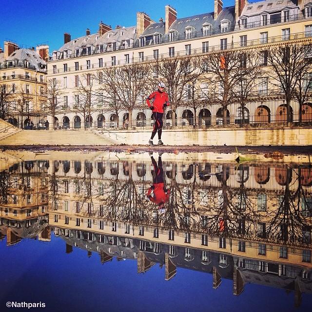 Утренняя пробежка, Париж,  инстаграм фото