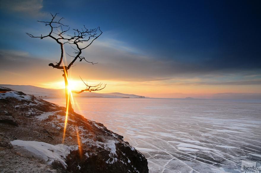 «Байкальский закат». Байкал, остров Ольхон, январь 2013. Петр Казаков, город Хужир, Иркутская обл.